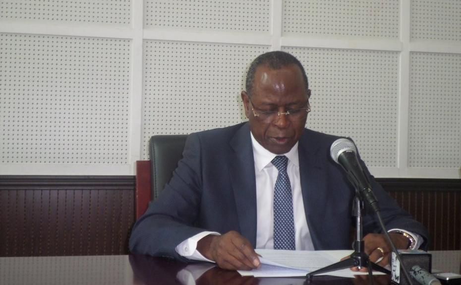 Le Ministre Fonction publique et de la réforme de l'État, Gilbert Mokoki