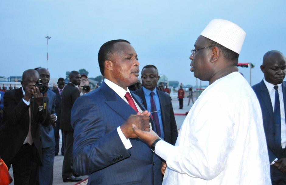 Les Présidents Macky Sall et Denis Sassou N'Guesso