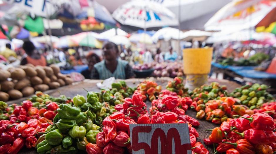 Un marché à Gombe près de Kinshasa, le 18 avril 2016