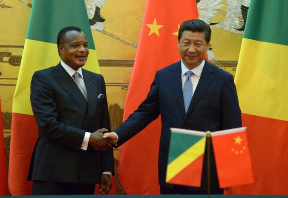 Les présidents chinois Xi Jinping et Denis Sassou Nguesso