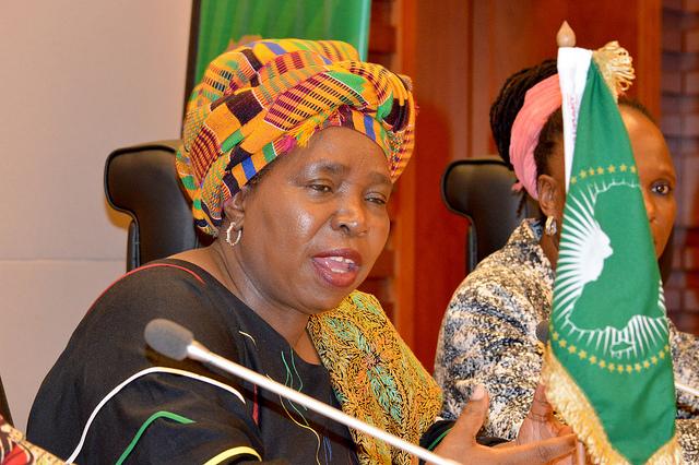 La présidente de la Commission de l'Union africaine (UA), la Sud-Africaine Nkosazana Dlamini-Zuma