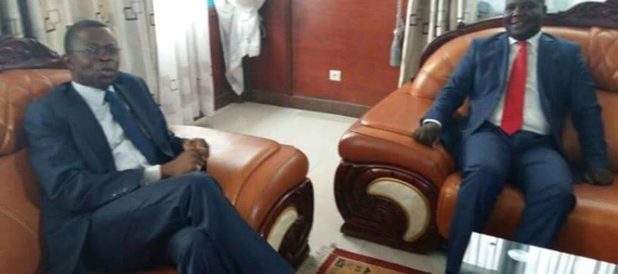 VIDEO – Congo : Digne Elvis Okombi Tsalissan rencontre Mabio Zinga Mavoungou