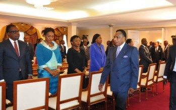 EN IMAGES – premier conseil de ministres du nouveau gouvernement congolais