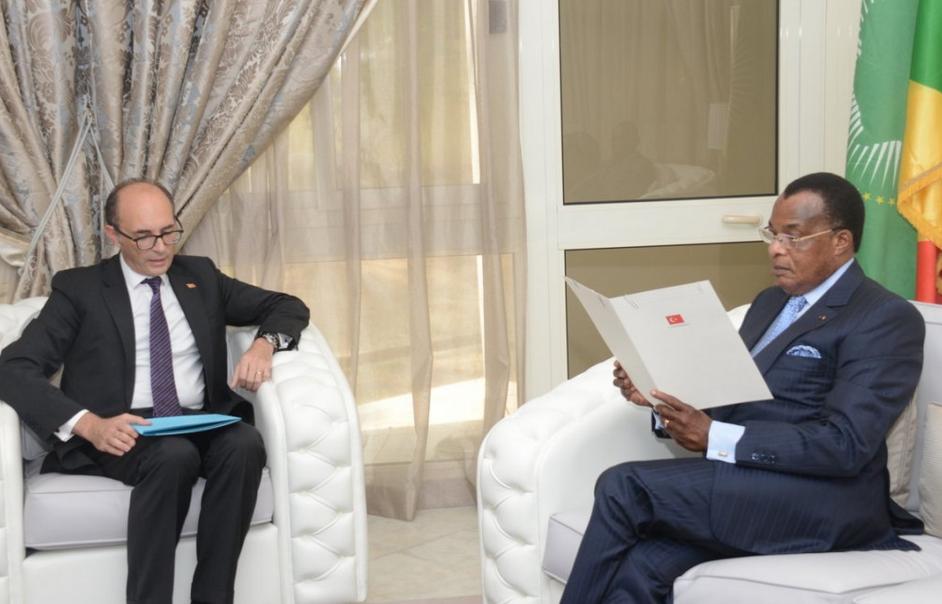 Can Incesu, Ambassadeur de la Turquie en audience avec le président de la république, Denis Sassou N'Guesso