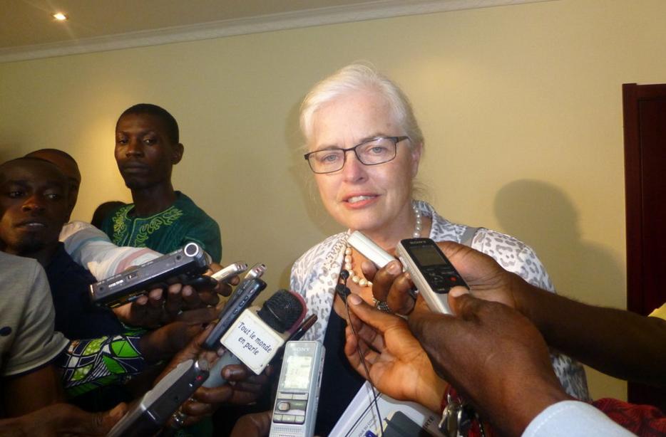 Saskia De Lang, chef de mission de l'UE au Congo