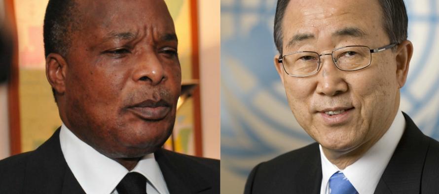 Congo – Pool: Ban Ki-moon s'est entretenu au téléphone avec le président Sassou