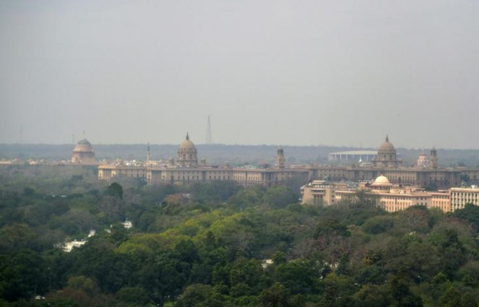 Une vue de New Delhi le 11 mars 2016|AFP