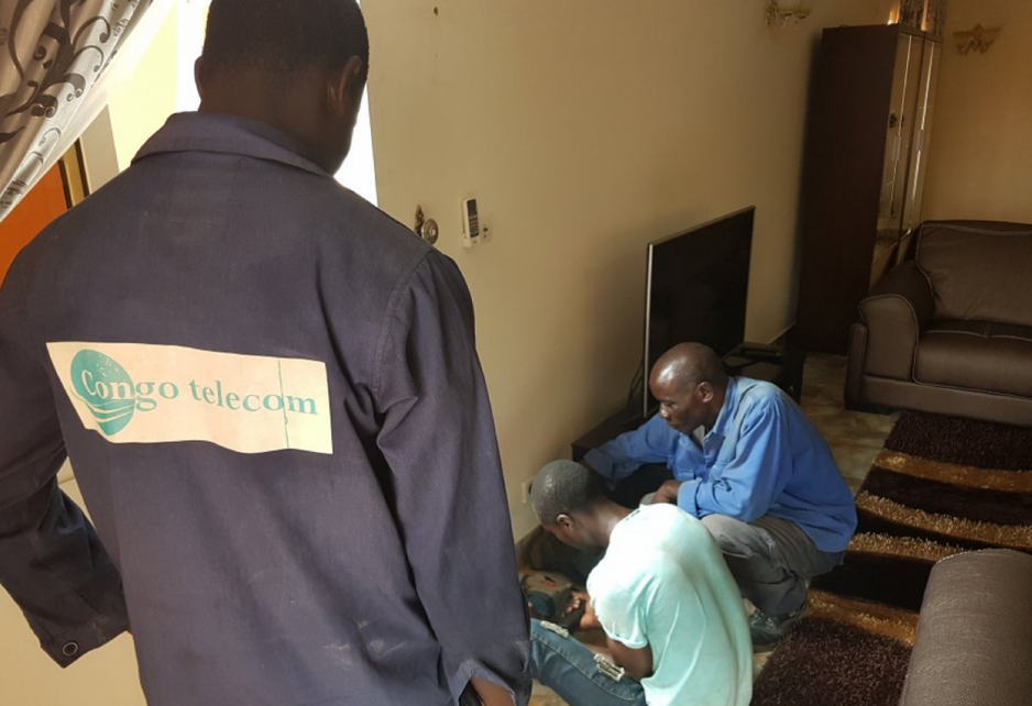 La connexion des ménages à la fibre optique a démarré à Brazzaville|Ph @verone