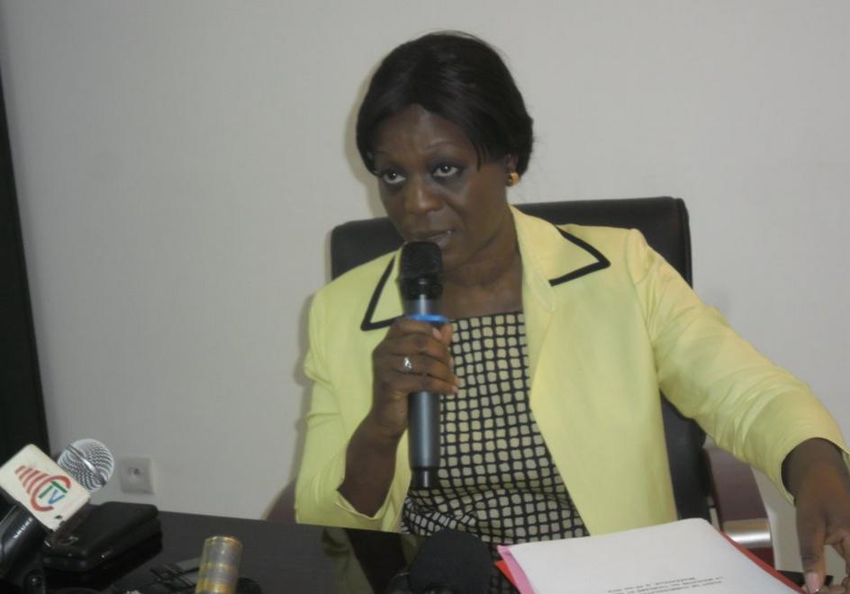 La ministre congolaise du Tourisme et des Loisirs, Mme Arlette Soudan Nonault