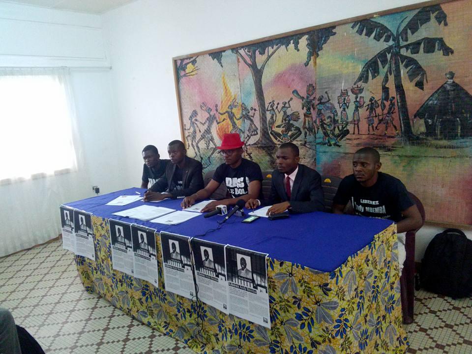 Le Mouvement Citoyen Ras-Le-Bol a tenu ce samedi 11 juin 2016 à 10h30min à l'hôtel Phoenix une conférence de presse pour exiger la libération pure et simple de Andy Bemba emprisonné depuis 09 mois sans procès.