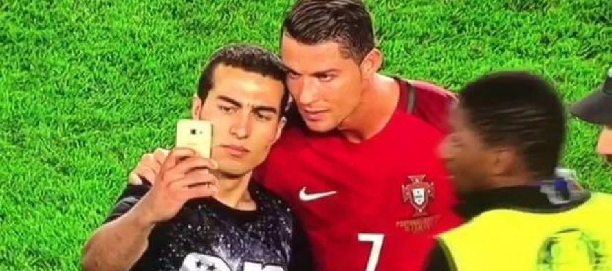 VIDEO – EURO : Malgré son match manqué, CR7 s'arrête pour faire plaisir à un fan