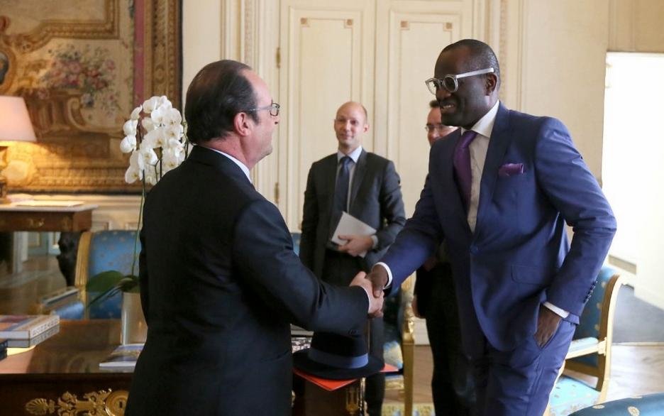 Alain Mabanckou a été reçu à l'Elysée par le président français, le mardi 14 juin
