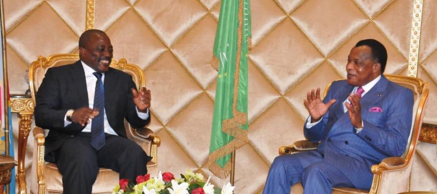 Coopération :les deux Congo Plus de 2 heures de discussion entre Kabila et Sassou à Oyo