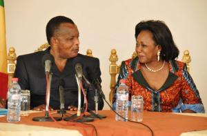 Le président Denis Sassou-Nguesso et son épouse Antoinette Sassou Nguesso