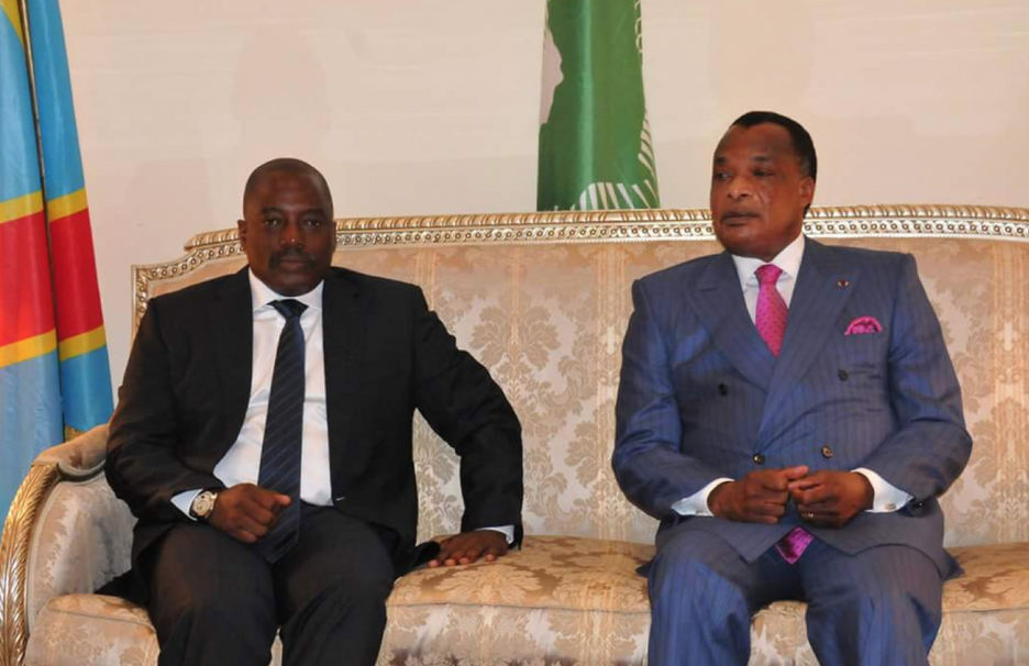 Joseph Kabila Kabangé  et Denis Sassou N'Guesso