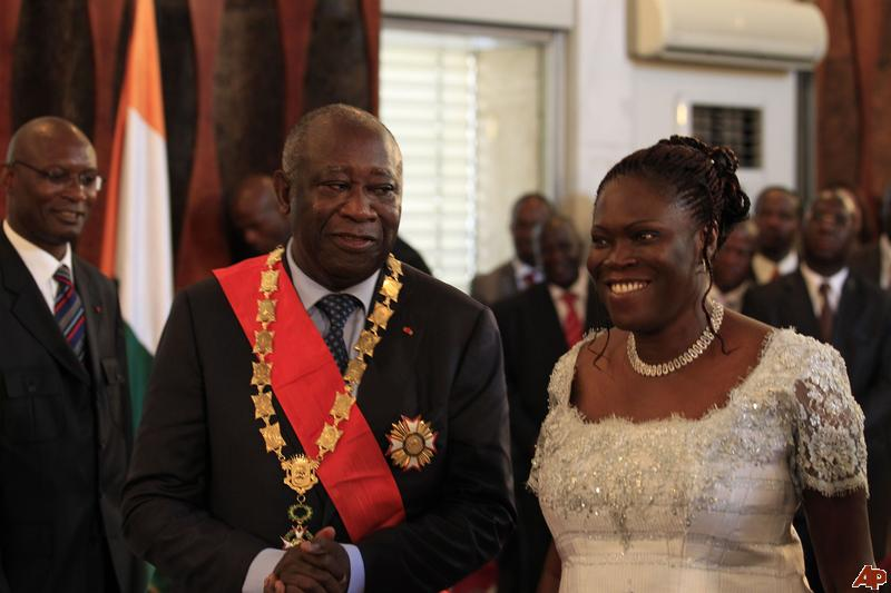 Laurent Gbagbo et sa femme Simone
