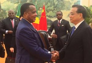 Le président Denis Sassou-Nguesso et le Premier ministre Li Keqiang
