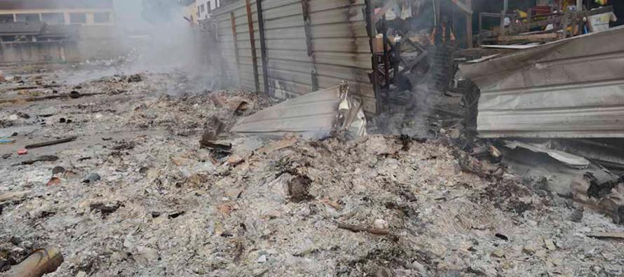 Un incendie vite maîtrisé au marché Total de Brazzaville !