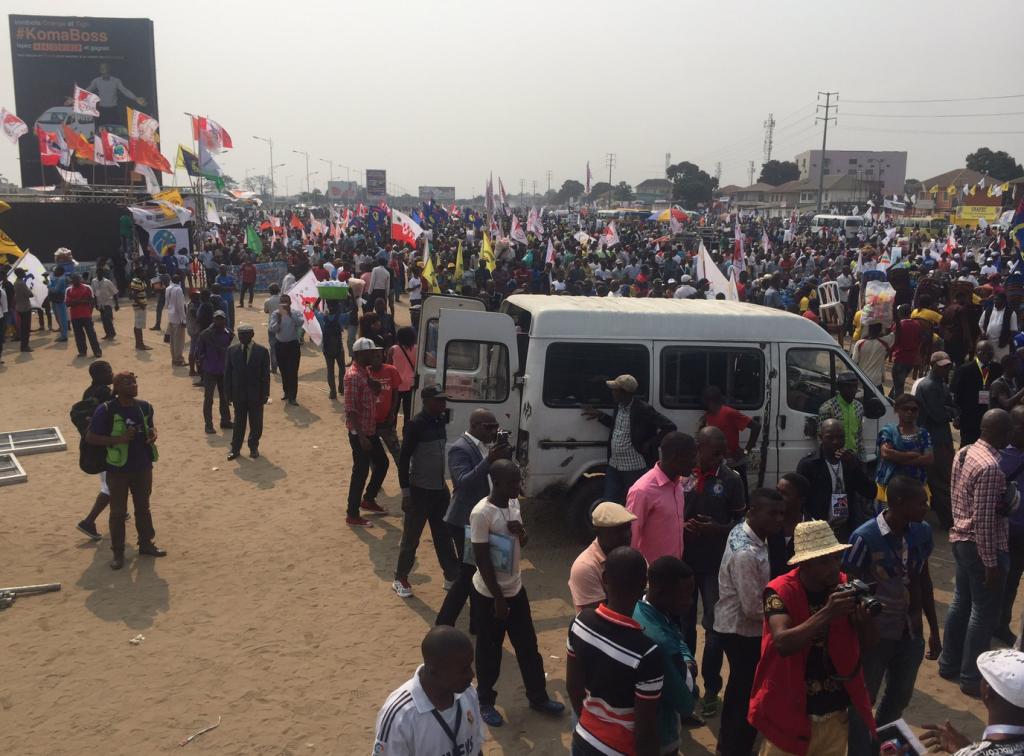 RDC : La foule grandit avant le meeting de l'opposition