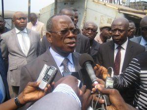 Le ministre Gilbert Mokoki