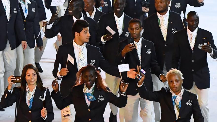 Rio 2016 : l'équipe des réfugiés entre en piste