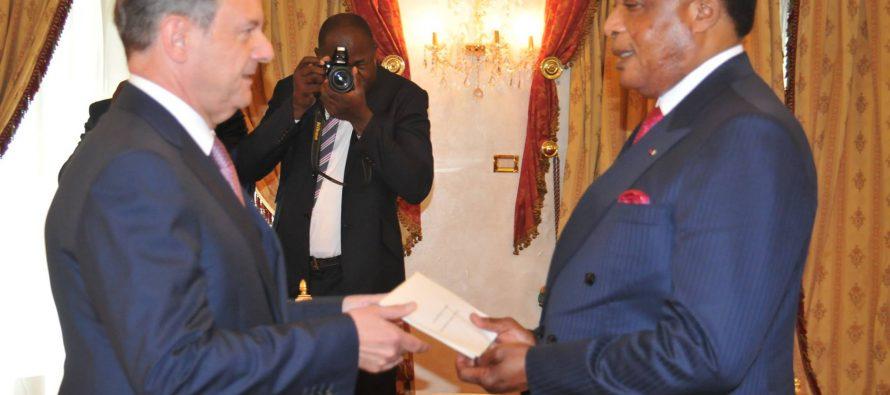 Le diplomate français Bertrand Cochery a présenté sa lettre de créance au Président Sassou