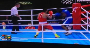 Rio 2016 – Le congolais Malonga Dzalamou sorti sur KO par l'Ouzbek Gaibnazarov