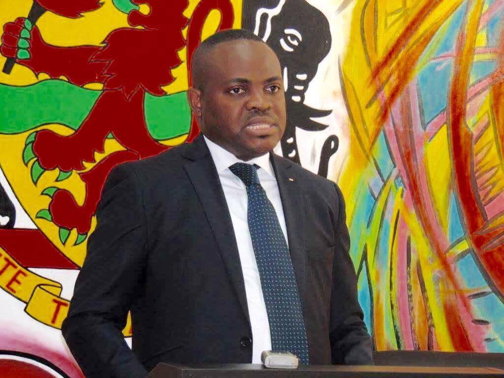 Le ministre congolais (Congo-Brazzaville) de la Culture et des Arts, Léonidas Carel Mottom Mamoni