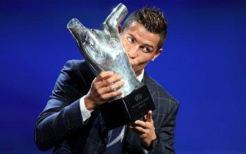 Foot – Cristiano Ronaldo élu joueur UEFA de l'année devant Antoine Griezmann et Gareth Bale