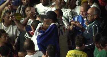 VIDÉO – «Merci mon fils!»: l'émotion du père de Tony Yoka, sacré en super-lourds