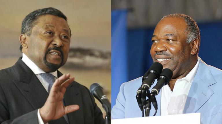 Jean Ping et Ali Bongo Ondimba