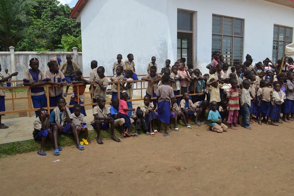 eleves au Congo Brazzaville