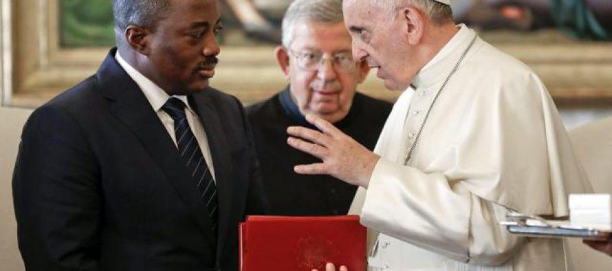 Le Pape François reçoit le président de la RDC, Joseph Kabila