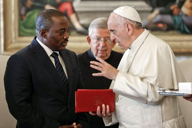 Congo President Kabila visits Pope