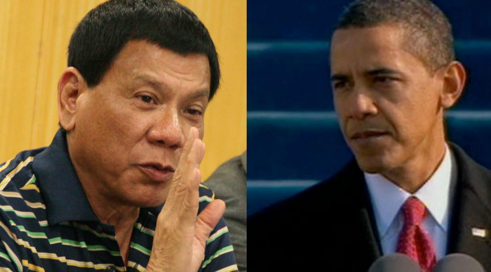 Rodrigo Dutert et Barack Obama