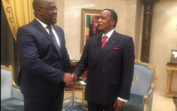 Dialogue politique en RDC: Felix Tshisekedi chez Denis Sassou-Nguesso