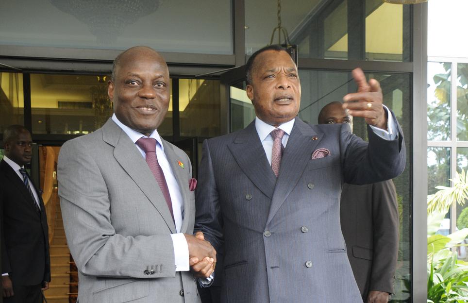 José Mario Vaz et Denis Sassou-Nguesso
