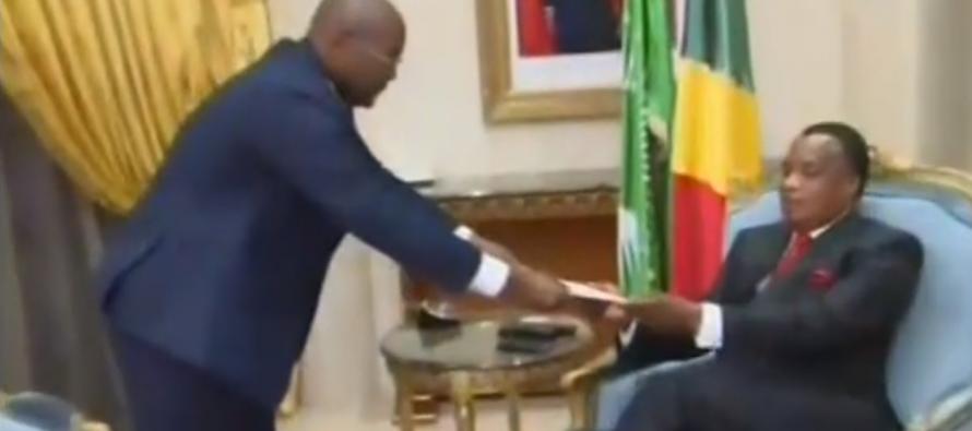 Le ministre gabonais de l'Intérieur, Pacôme Moubelet Boubeya, reçu par Denis Sassou N'Guesso