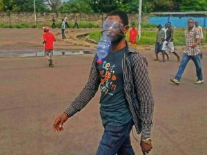 RDC : Les kinois ont développé le mécanisme pour faire face aux gaz lacrymogènes