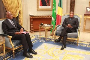 Denis Sassou N'Guesso et Abdoulaye Bathily