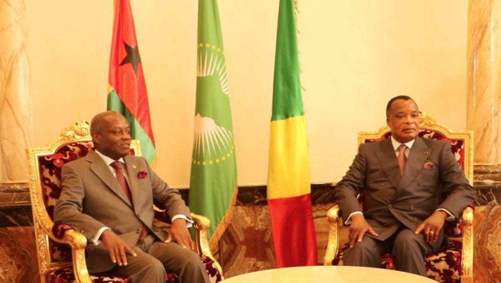 José Mario Vaz et Denis Sassou Nguesso