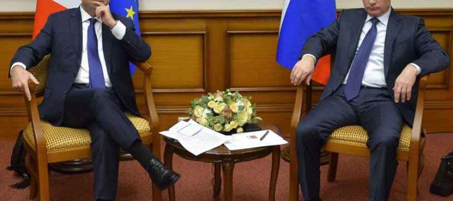 VIDÉO – François Hollande brandit la menace de la Cour pénale internationale face à Vladimir Poutine