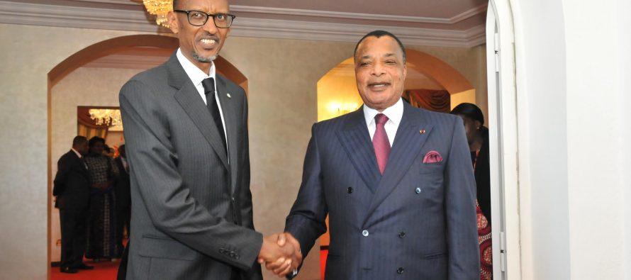 Congo-Rwanda : Sassou Nguesso et Kagame se congratulent et plaident pour la paix en RDC