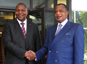 Denis Sassou N'Guesso et Faustin Archange Touadéra