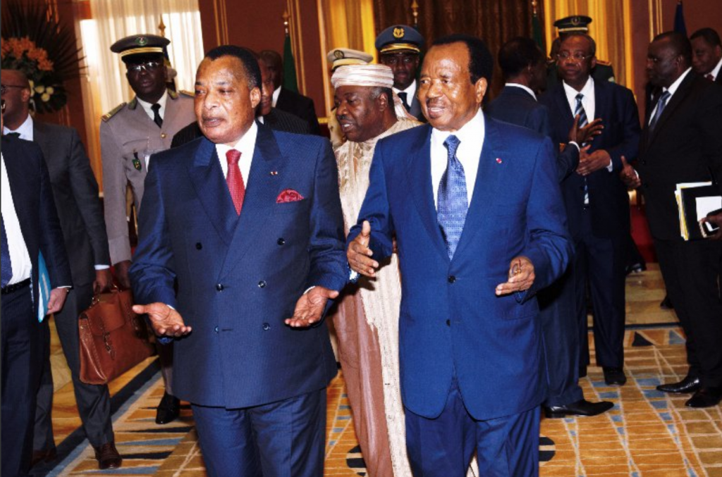 Denis Sassou Nguesso et Paul Biya