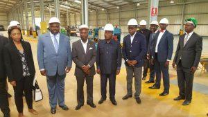 Le président José Mario Vaz visite le complexe industriel de Maloukou