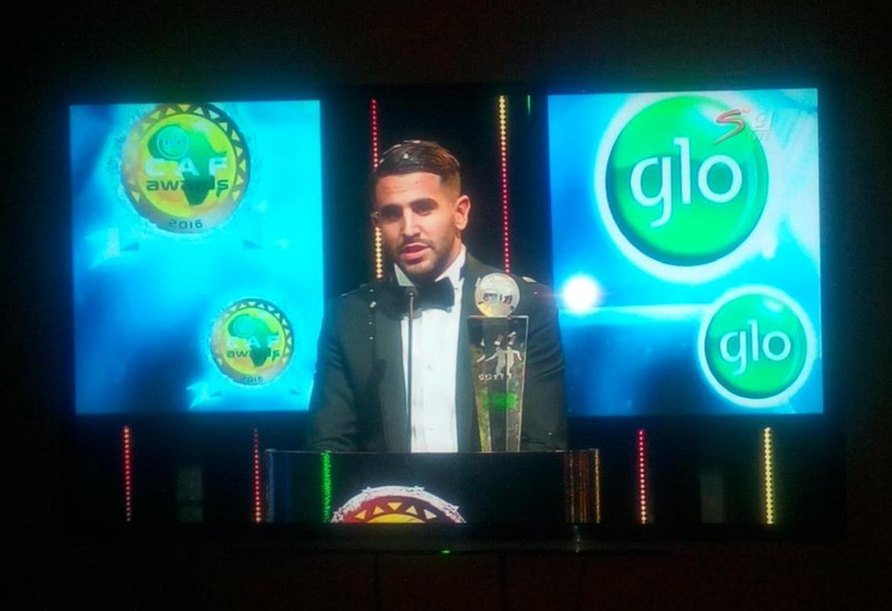 L'Algérien Riyad Mahrez est le Joueur africain de l'année 2016