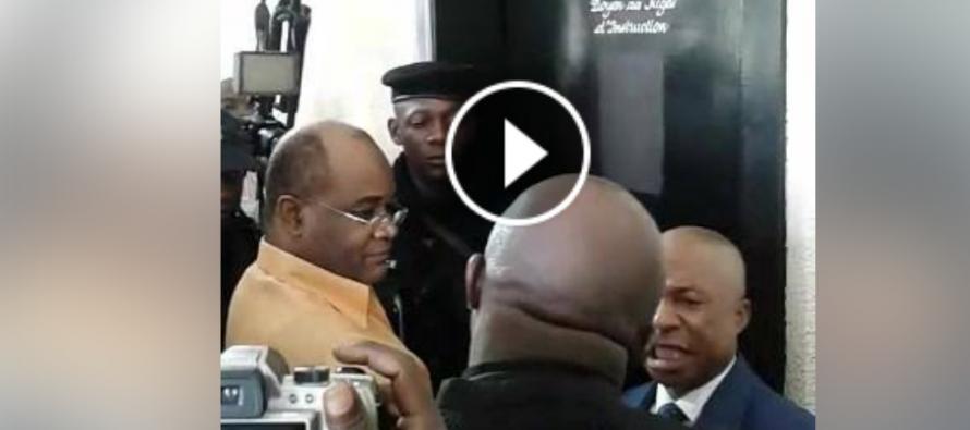 VIDÉO – Congo : Les avocats de l'opposant André Okombi Salissa aux prises avec le procureur Oko Ngakala