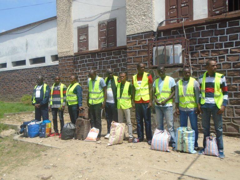 prisonniers à la maison d'arrêt de Brazzaville