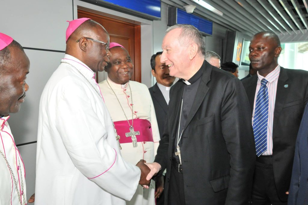 Cardinal Pietro PAROLIN et Monseigneur Anatole Milandou